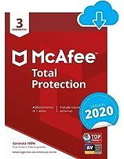 McAfee Total Protection 2020 | 3 Dispositivi | 1 Anno | PC/Mac/Smartphone/Tablet | Codice d'attivazione via email