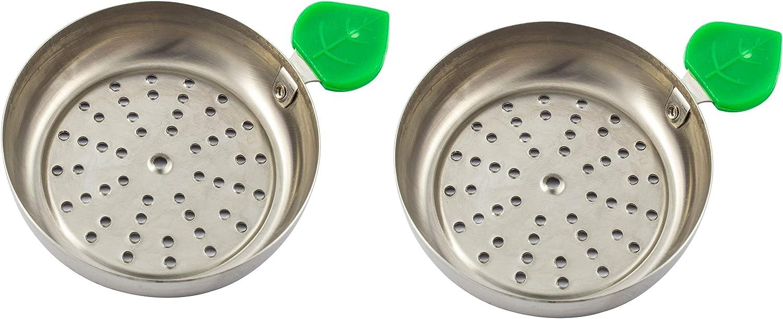 Plato para carbón manzana de cachimba shisha hookah - Muy cómodo y fácil de utilizar (Dos)
