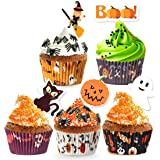 250 Pack Halloween Party Supplies Standard Paper Cupcake Case Liners Holders Toppers Wrappers Disposable Baking Cups Muffin L