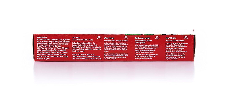 Dabur Red Toothpaste 100g: Amazon.es: Salud y cuidado personal