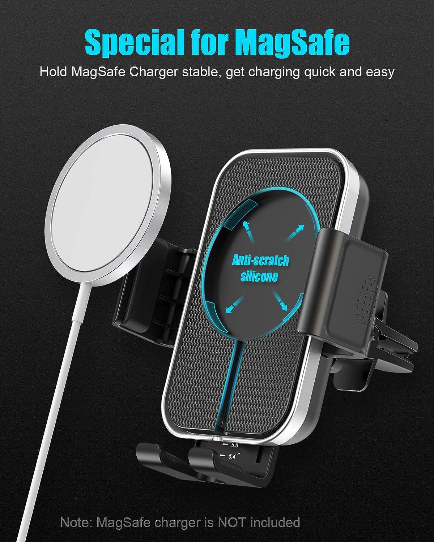 Cocoda Porta Cellulare da Auto per MagSafe Compatibile con Caricatore MagSafe per iPhone 12//12 Pro//12 Pro Max//12 Mini Bocchetta Dell/'aria Supporto Cellulare Auto Universale con Pi/ù forte Vent Clip