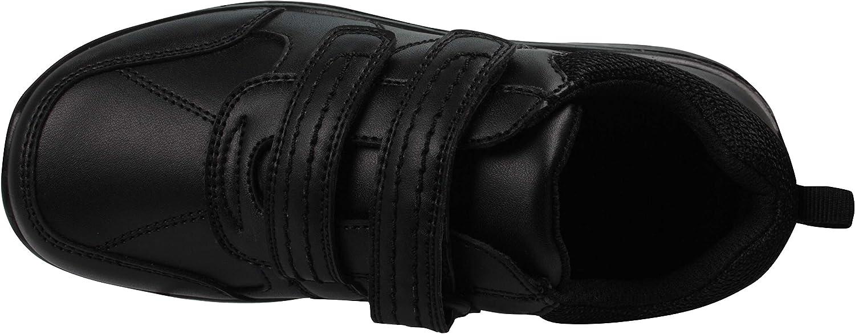 Boys Black School Shoes PU Leather Smart Dress Formal Easy On UK Sizes 10-5