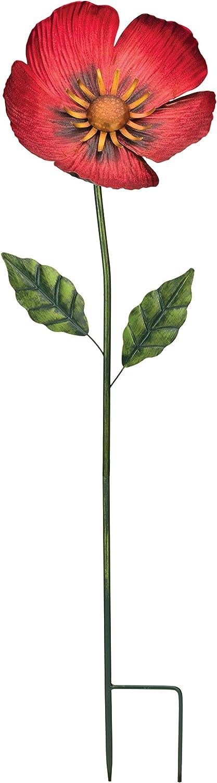 """Regal Art & Gift 36"""" Flower Stake - Poppy"""
