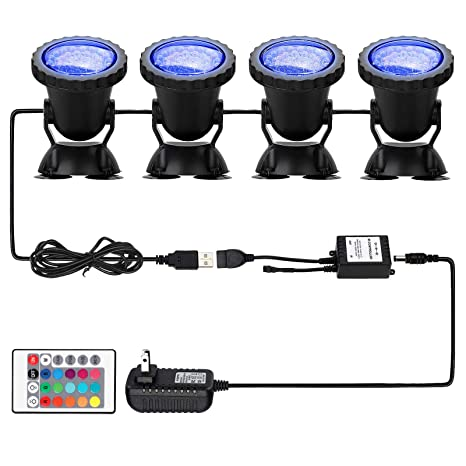Rgb Led Swimming Pool Light Ip68 Waterproof 12v 10w Underwater Led Lights For Pool Pond Fountain Led Lamps 24 Key Controller Structural Disabilities