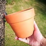 12-pack, Flower Pot Clips Klips, Strong Durable Hard Galvanized Steel For Indoor/Outdoor Plant Terra Cotta Clay Pot Garden Latch Hangers