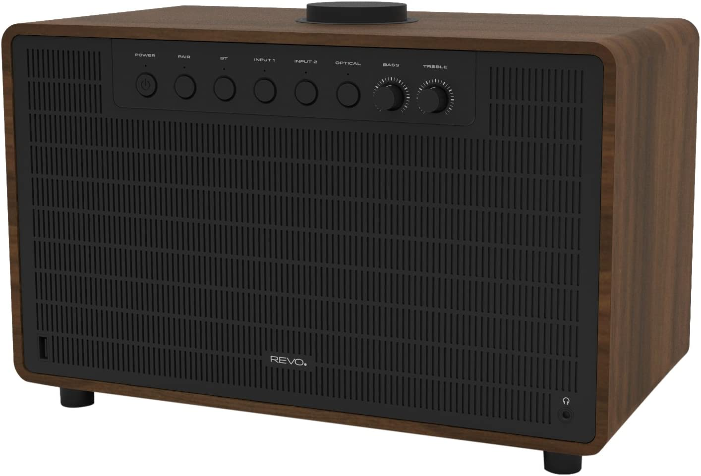 Revo 641193 Super Tone Bluetooth 4.2 Altavoz, 80 W Nogal Negro