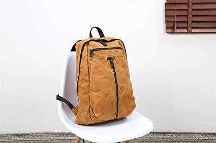 b389a68b9194 DAYIYANG Special Design Men s Shoulder Bag Oil Wax Canvas Bag Retro Crazy  Horse Skin Backpack Batik