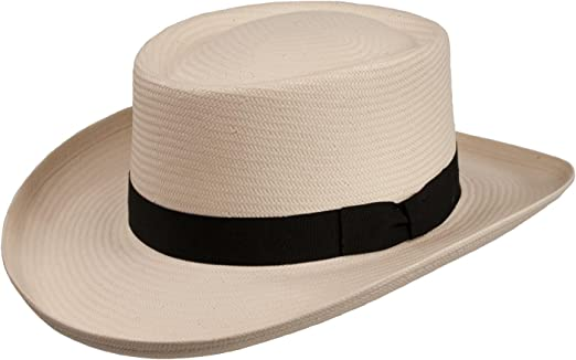 Men/'s Hat Classic Straw Hat Natural Straw up to Size 63 XXL Curved Brim