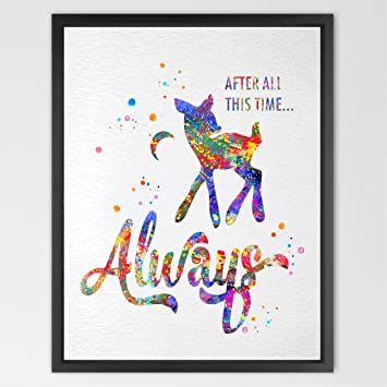 Dignovel Studios 8X10 Harry Potter Always Inspired Watercolor Illustration  Art Print Harry Potter Poster Friendship Quote