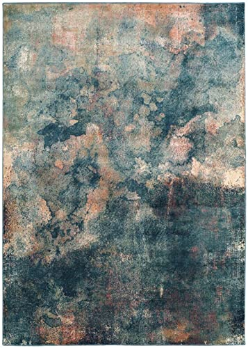 Safavieh Constellation Vintage Collection CNV765-2220 Abstract Watercolor Light Blue and Multi Viscose Area Rug 2 x 3