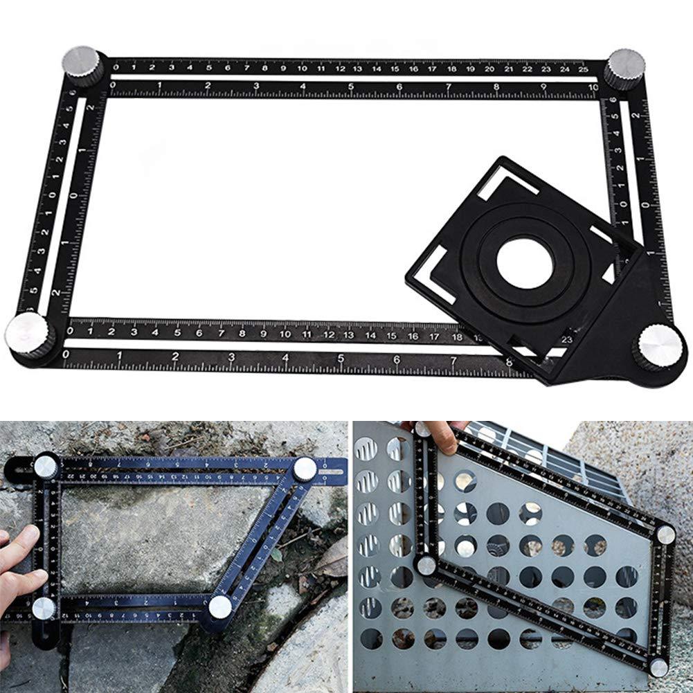 Foratura localizzatore Angleizer template Tool aluminum alloy Jig foro bit carpenteria drill guide localizzatore regolabile Jig perforazione strumento