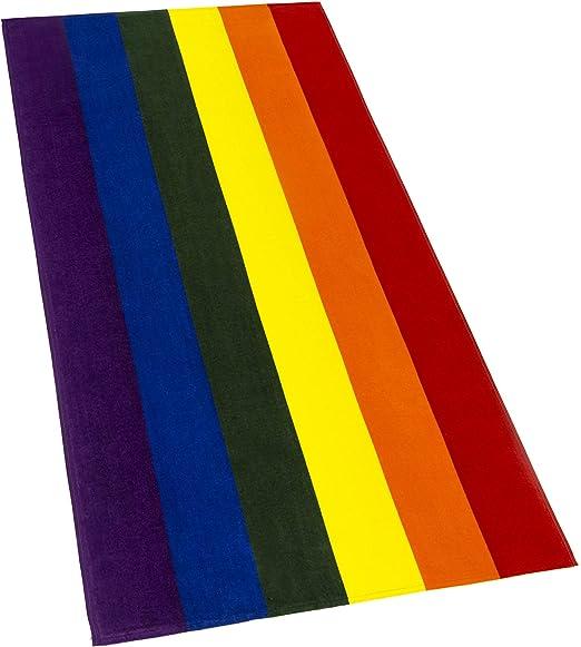 Softerry - Toalla de Playa, diseño de Bandera Gay, 30 x 60 Pulgadas, Colores del arcoíris, Movimiento de Resistencia: Amazon.es: Hogar