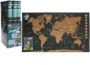Large scratch off world map poster personalized travel vacation large scratch off world map poster personalized travel vacation personal gumiabroncs Gallery