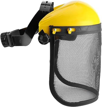 Casco de protección, visera de seguridad de red con banda de cabeza ajustable para sierras de motosierras de jardín, desbrozadora, visera forestal de trabajo, protege el rostro.