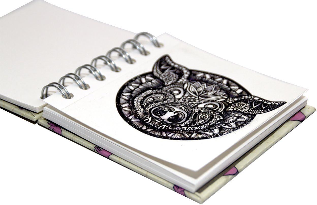 | color blanco l/áser 35/hojas color Limited Edition Random Pink Pig//–/Cuaderno 4/x 4/cuadrado