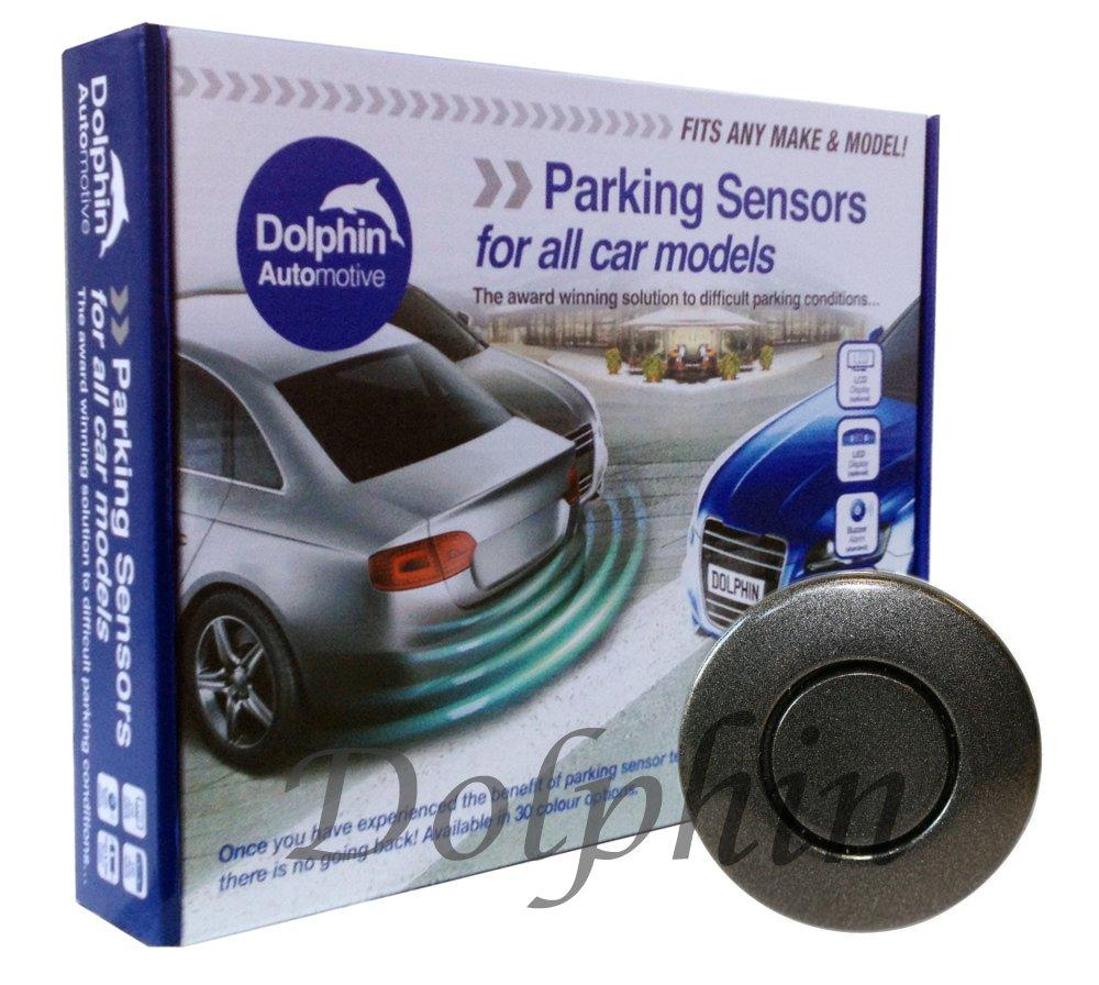 Dolphin DPS400 - Sensori di parcheggio per retromarcia, vincitore dell'Auto Express Award. 4 radar ultrasonici con kit per sistema di allarme vincitore dell' Auto Express Award. 4 radar ultrasonici con kit per sistema di allarme Dolphin Automotiv