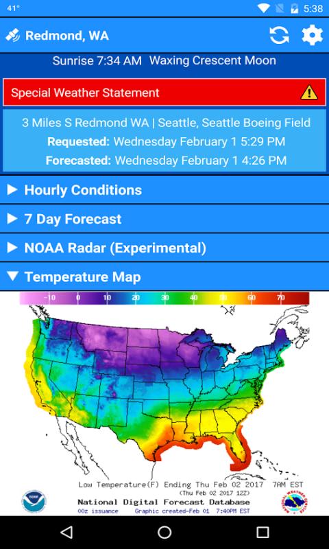 Amazoncom NWS NOW Free Weather Forecasts Radar Map Alerts - Weather seattle noaa