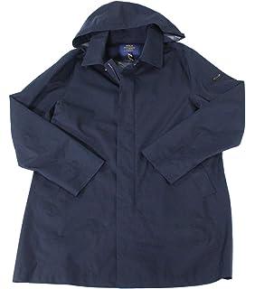 Mens Lauren Polo Coat Jacket At Rain Nylon Ralph Hooded Rlx Black Nvnmw80O