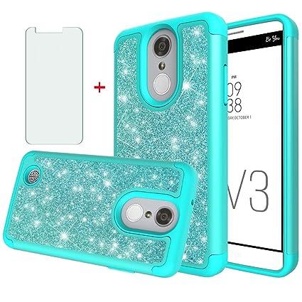 Phone Case for LG Aristo 3 2 Plus 1/Tribute Dynasty Empire/Rebel 4 3  LTE/Fortune 2 1/Phoenix 4 3/Zone 4/Risio 2 3/K8 with Tempered Glass Screen