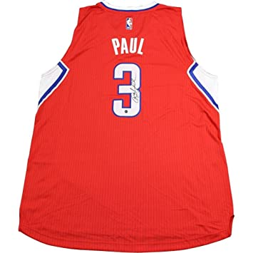 55bf8002f Chris Paul Autographed Signed Red LA Clippers Swingman Jersey Autographed  Signed in Black - Authentic Signature