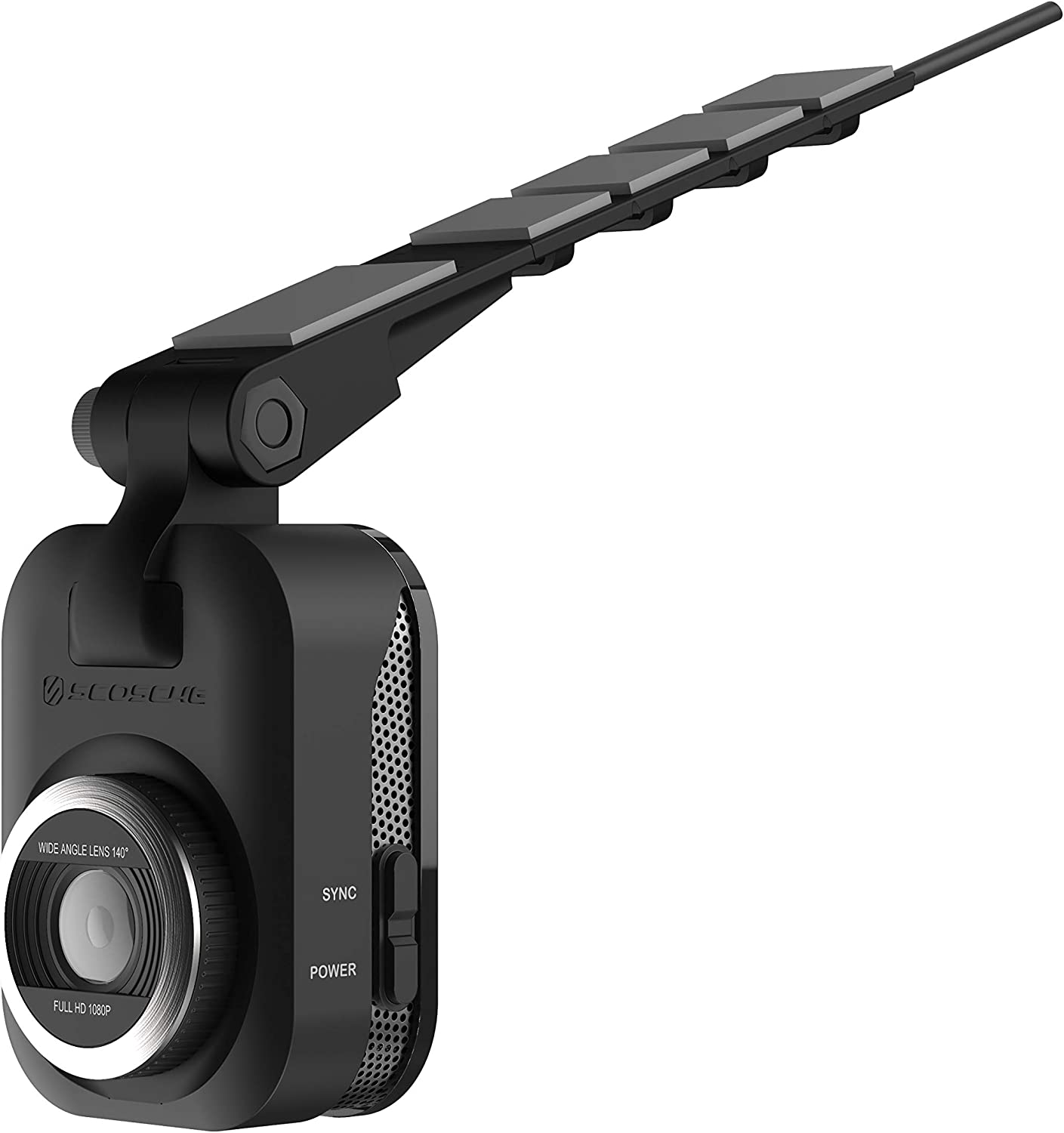 SCOSCHE NEXS11032-ET Full HD Smart Dash Cam Powered by Nexar with Suction Cup Mount and 32GB Micro-SD Card