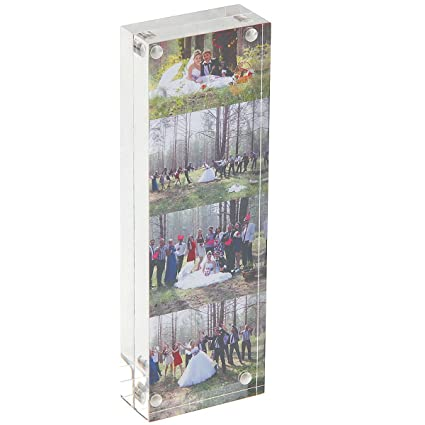 Amazon.com - Photo Booth Acrylic 2 x 6 Picture Frame, Double Sided ...