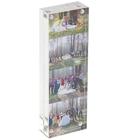 Marco Acrílico Transparente 5x15cm (15+15 mm de espesor), Regalo de Cumpleaños