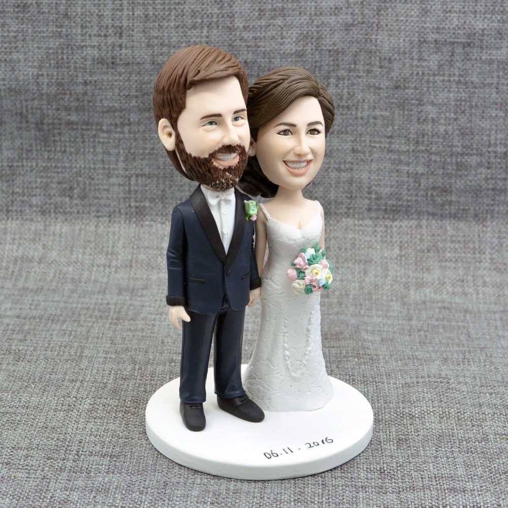 Custom Wedding Cake Topper,Handmade Portraits by Wedding Bee