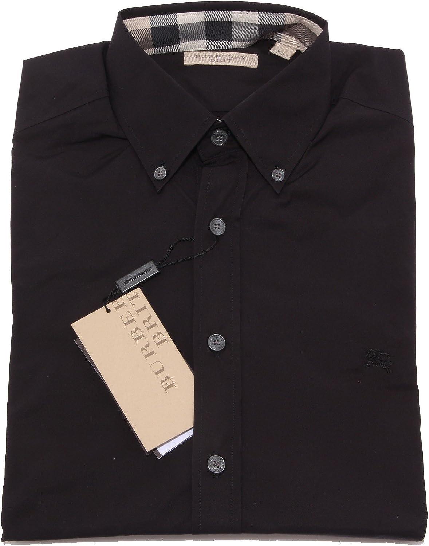 Burberry - Camisa Casual - para Hombre Negro XS: Amazon.es: Ropa y accesorios