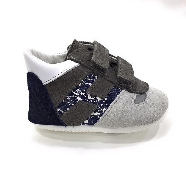HOGAN Bambino Olympia Bambino HXB0520Z330IBF Grigio Sneaker Estate 18   Amazon.it  Scarpe e borse 3fc9f0ac174