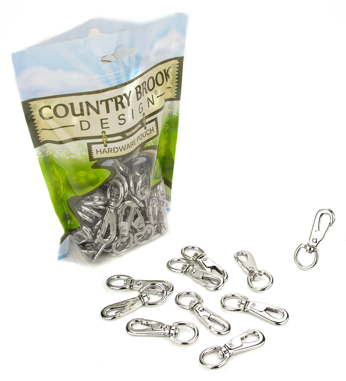50 - Country Brook Design - 2 Inch Swivel Lobster Snap Hooks by Country Brook Design