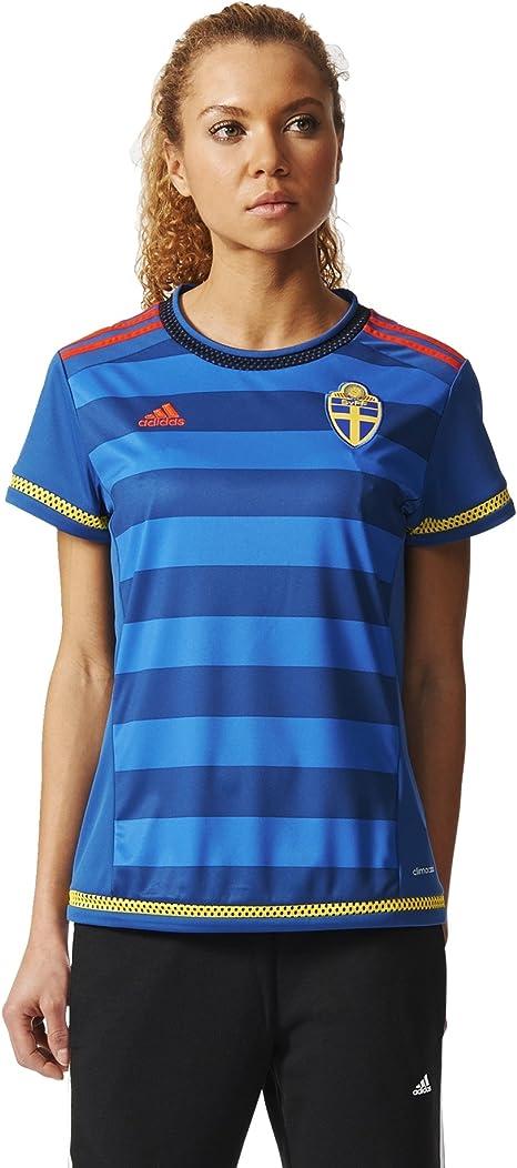 adidas Camiseta Suecia visitante Réplica: Amazon.es: Ropa y accesorios