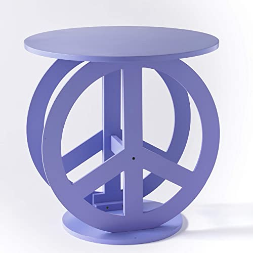 Novelty Peace Sign Shaped Accent Table