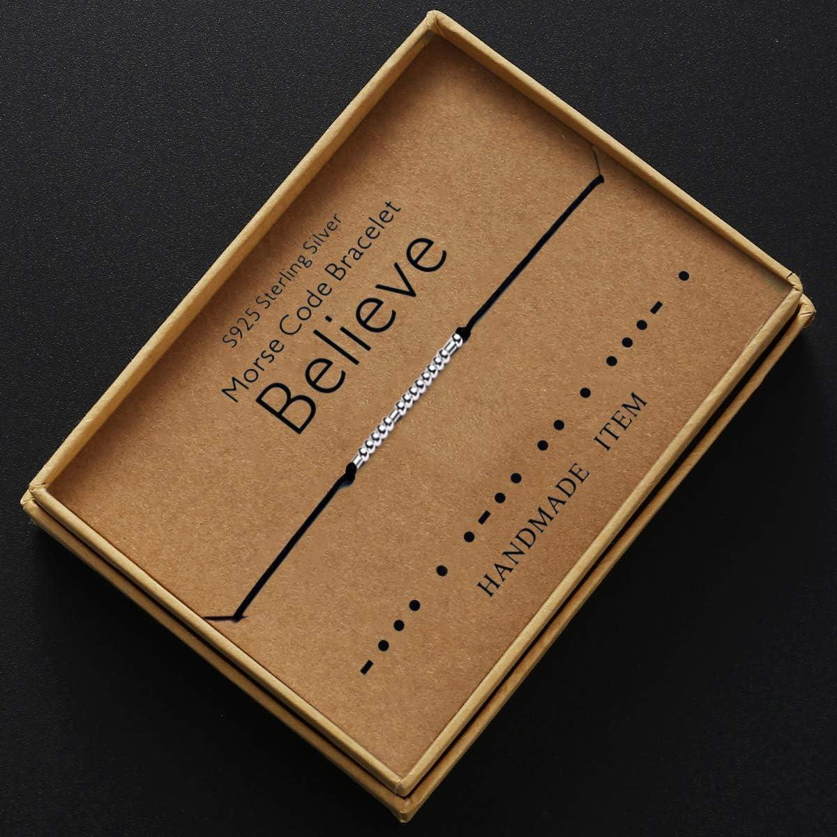 Morse-code Armband Best wishes Bad  Cord Geheime Botschaft Geschenk Armbänder