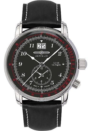 Zeppelin - Reloj de pulsera hombre lz126 los angeles analógico de cuarzo one size, negro, negro: Amazon.es: Relojes