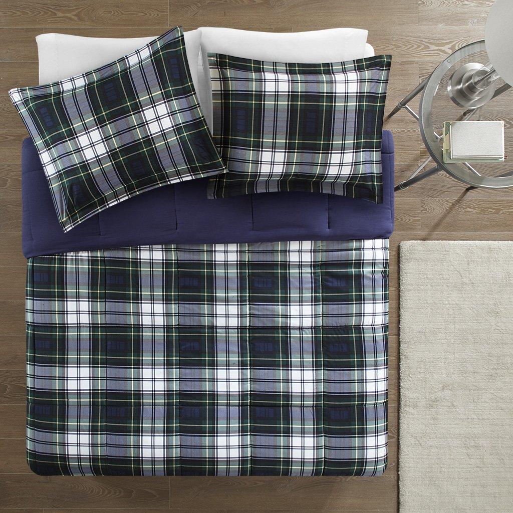 Madison Park Essentials Parkston Down Alternative Comforter Mini Set, Full/ Queen, Navy by Madison Park (Image #3)