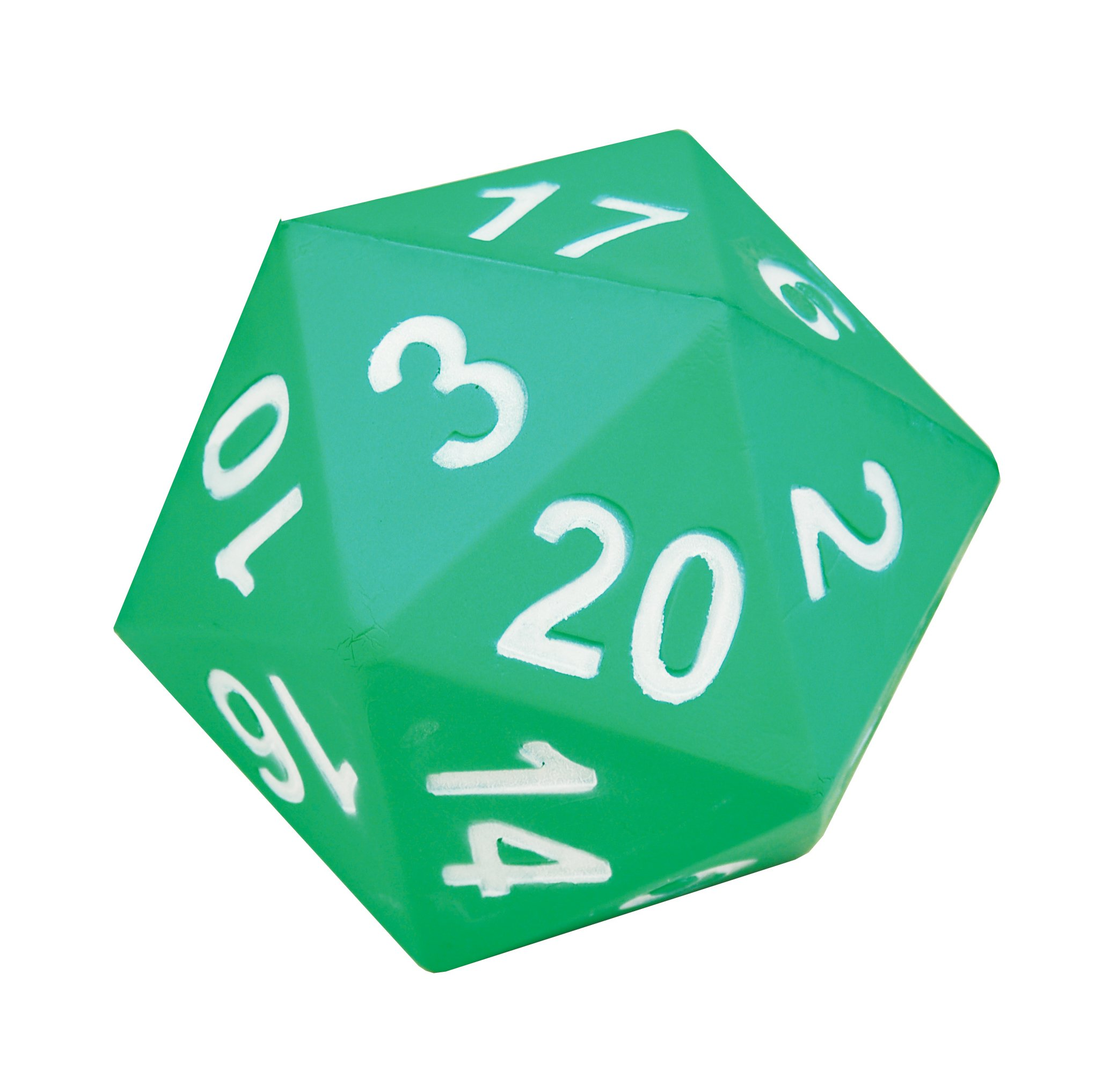 Learning Advantage Jumbo Polyhedra Die - 20 Sides - Large, Foam Dice for Games - Teach Numbers, Probability, Addition and Subtraction by Learning Advantage