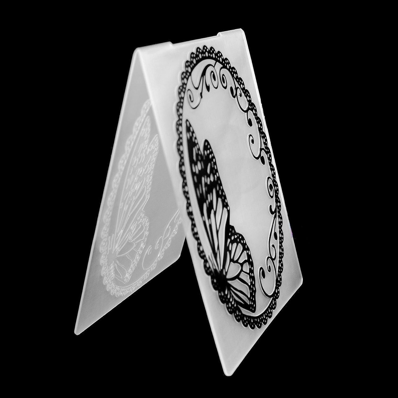 Butterfly Flower DIY Paper Cutting Dies Scrapbooking Plastic Embossing Folder-MY#8F