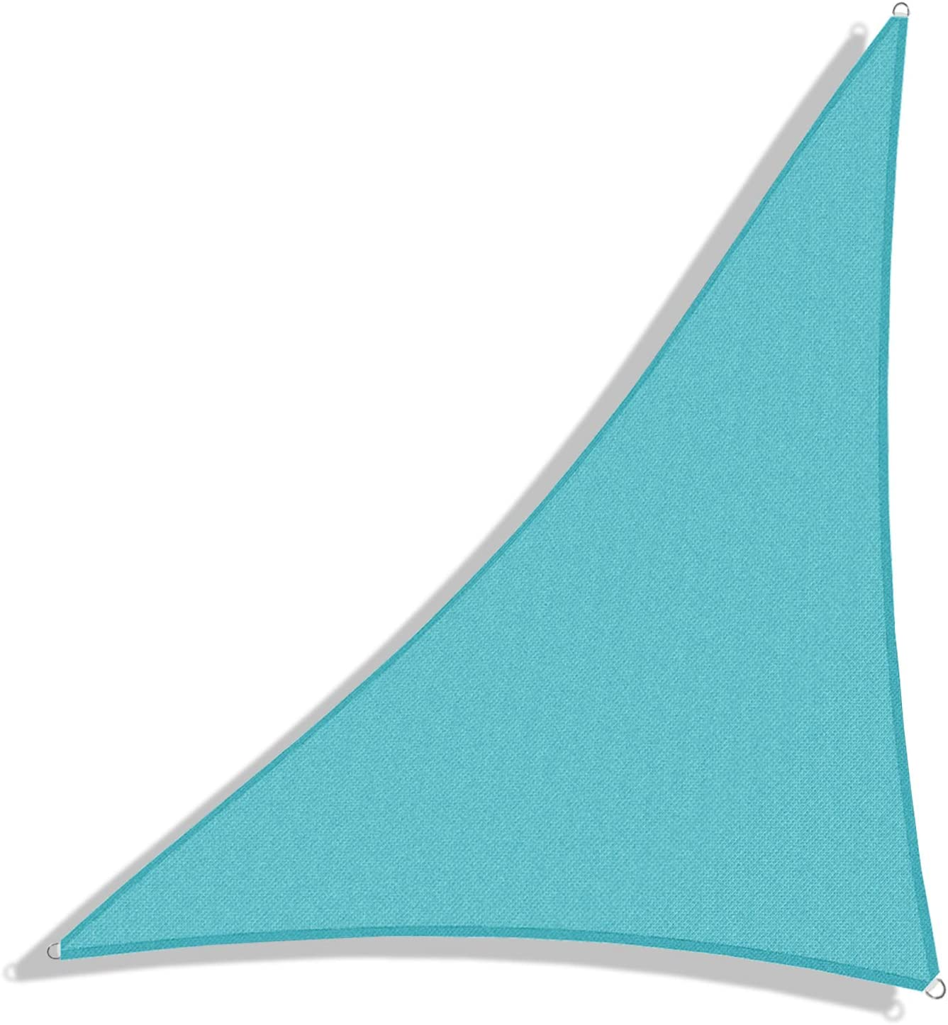 Windscreen4less 8' x 8' x 11.3' Sun Shade Sail Triangle Canopy in Turquoise with Commercial Grade Customized