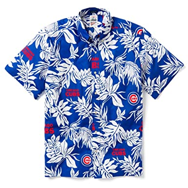 9123a5c4 Reyn Spooner Men's Chicago Cubs MLB Classic Fit Hawaiian Shirt, Aloha 2019,  Small