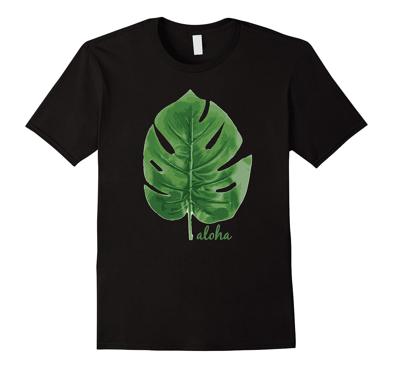 Aloha Leaf Cute Graphic Hawaiian Souvenir T-Shirt-T-Shirt