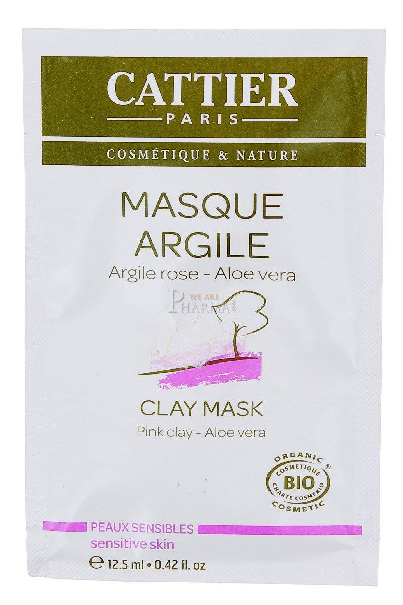 Cattier Masque argile rose Aloe vera sachet unidose 12.5ml 2565