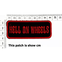Hell on wheels Funny Words Patch Punk Rock Iron on Patch/Sew On Patch Clothes Bag T-Shirt Jeans Biker Badge Applique