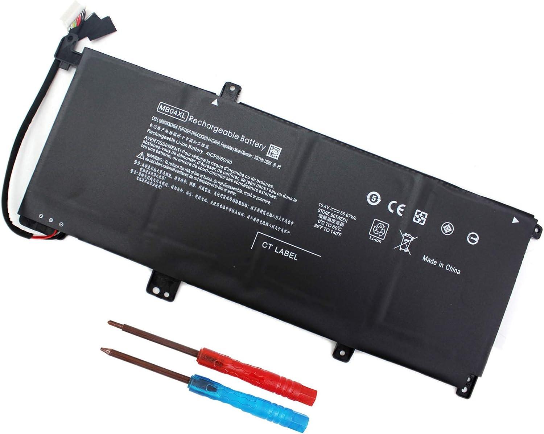 MB04XL 844204-850 Battery for HP Envy X360 Convertible PC m6-aq003dx m6-aq105dx m6-aq103dx m6-aq005dx m6-ar004dx 15 15-aq100 15-aq105ng 15-aq000 843538-541 HSTNN-UB6X 843538-541 15.4V 55.67Wh