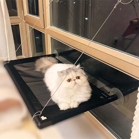 PLQ Gato Hamaca Gato Ventana Instalación Cama Asiento Solar Respirable Mascota Hamaca Invernadero Calamar Cojín Desmontable