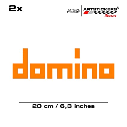2 X Domino 21 Cm Aufkleber Orange Available In 15 Colours