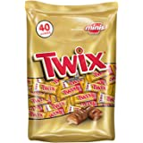 TWIX Caramel Minis Size Chocolate Cookie Bar Candy 40-Ounce Bag