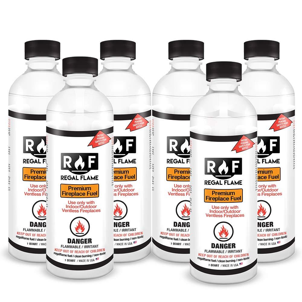 Regal Flame Premium Ventless Bio Ethanol Fireplace Fuel - 6 Quart by Regal Flame