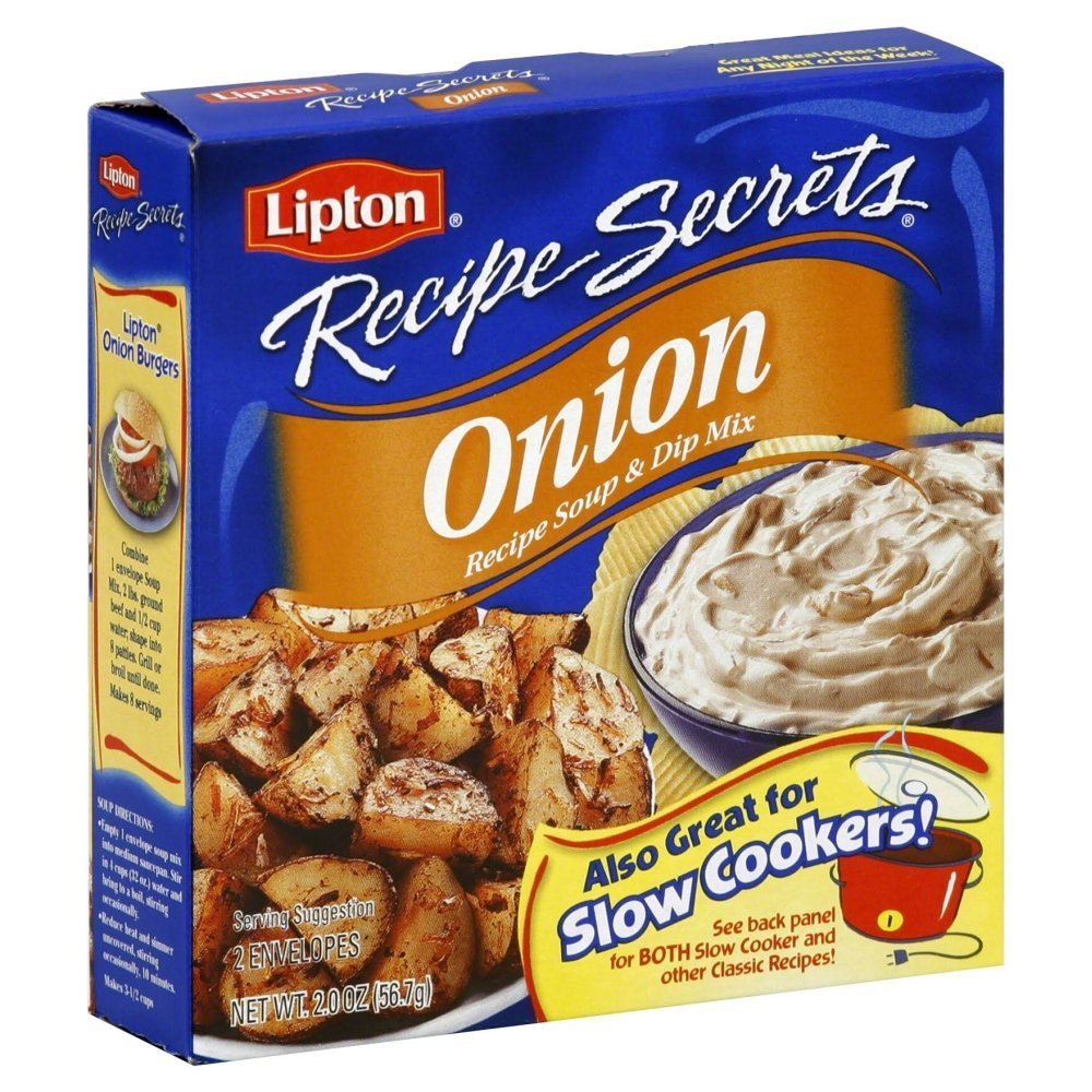 Lipton Recipe Secrets, Onion, 2Count 2Ounce Boxes (Pack of 8)