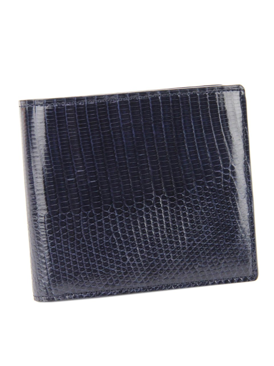 ペッレモルビダ 二つ折り財布 本革 バルカ リザードレザー メンズ LI004 B01N8T17SB ネイビー ネイビー